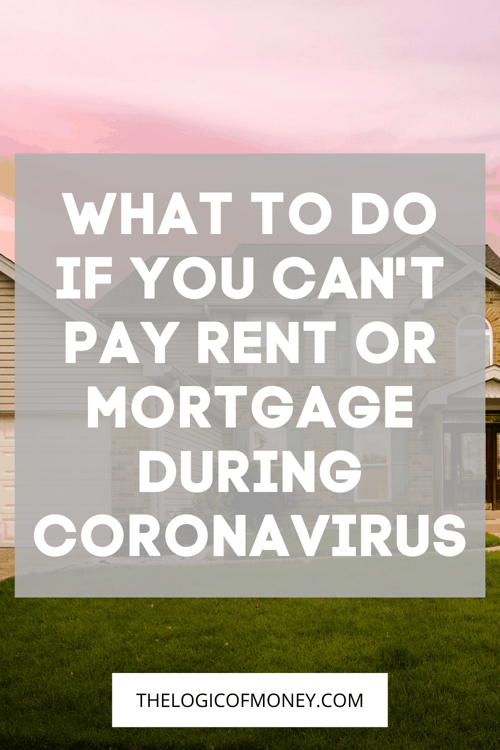 What to do if you can't pay rent or mortgage during coronavirus